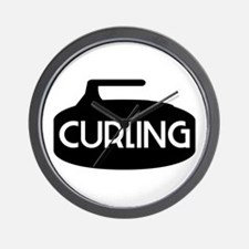 Curling Rock Wall Clock