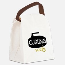 Curling Rocks Canvas Lunch Bag