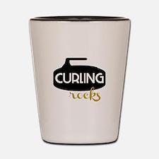Curling Rocks Shot Glass