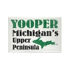 Yooper Michigan's U.P. Rectangle Magnet