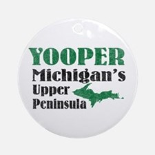 Yooper Michigan's U.P. Ornament (Round)