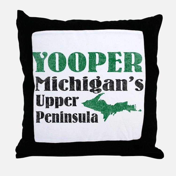 Yooper Michigan's U.P. Throw Pillow