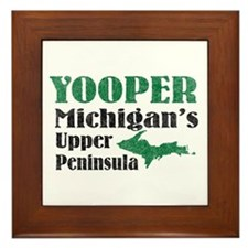 Yooper Michigan's U.P. Framed Tile