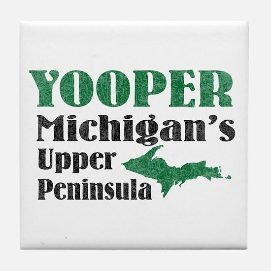 Yooper Michigan's U.P. Tile Coaster