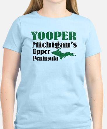 Yooper Michigan's U.P. Women's Light T-Shirt