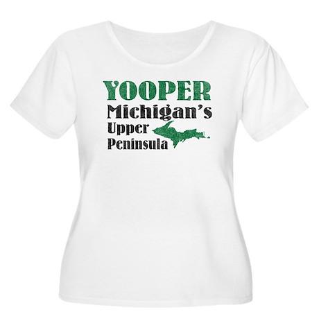 Yooper Michigan's U.P. Women's Plus Size Scoop Nec