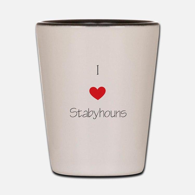I love Stabyhouns Shot Glass