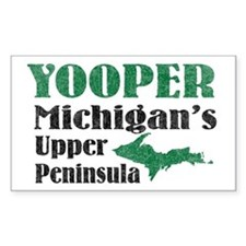 Yooper Michigan's U.P. Rectangle Decal