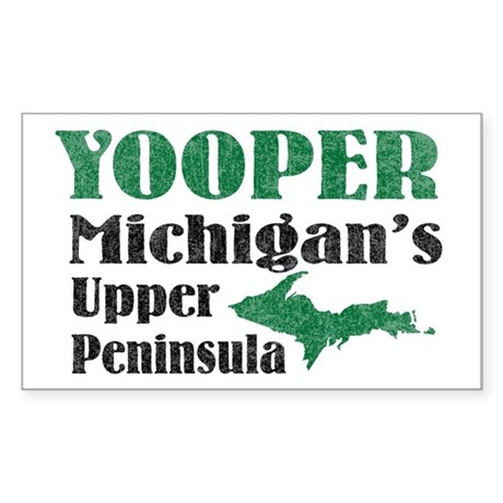 Yooper Michigan's U.P. Rectangle Sticker