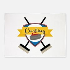 Curling Logo 5'x7'Area Rug