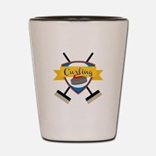 Curling Logo Shot Glass