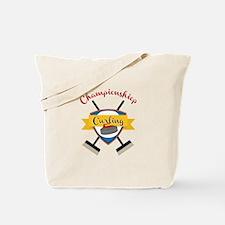 Championship Curling Tote Bag