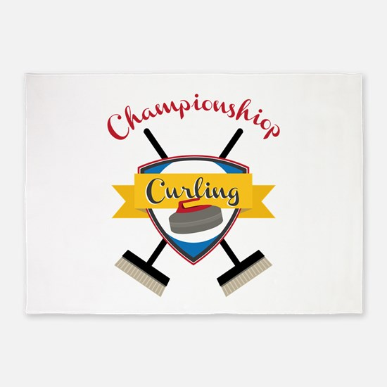 Championship Curling 5'x7'Area Rug