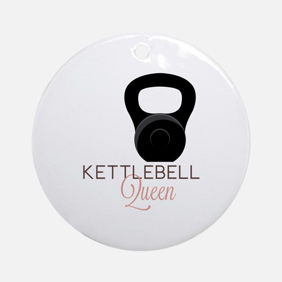 Kettlebell Queen Round Ornament
