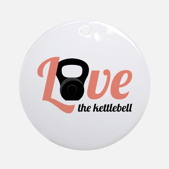Kettlebell Love Round Ornament