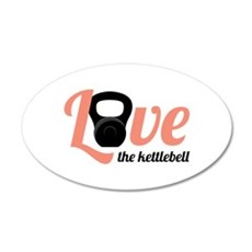 Kettlebell Love Wall Decal