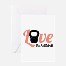 Kettlebell Love Greeting Cards