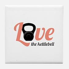 Kettlebell Love Tile Coaster