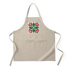 Hibiscus Quilt Christmas BBQ Apron