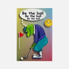 Frog Golfer - Be the Ball Rectangle Magnet
