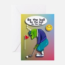 Frog Golfer - Be the Ball Greeting Cards (Pk of 10