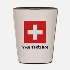 Swiss Flag Shot Glass