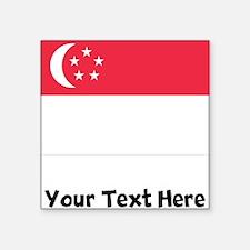Singaporean Flag Sticker
