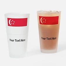 Singaporean Flag Drinking Glass