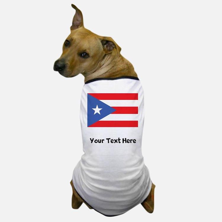 Puerto Rican Flag Dog T-Shirt