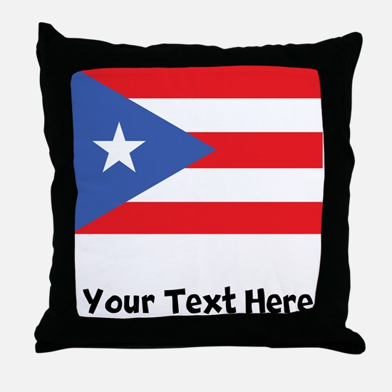 Puerto Rican Flag Throw Pillow