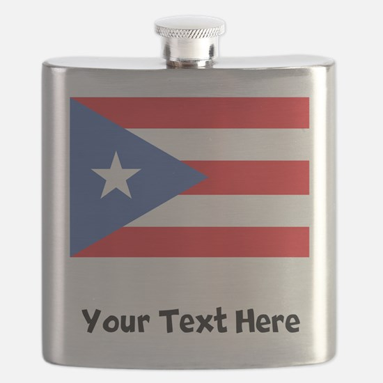Puerto Rican Flag Flask