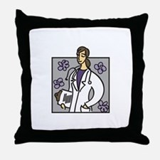 Female Doctor Throw Pillow