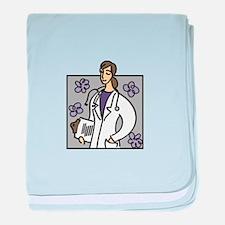 Female Doctor baby blanket