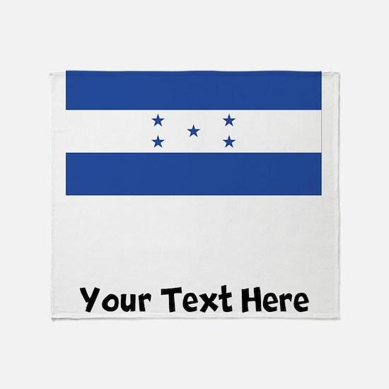 Honduran Flag Throw Blanket