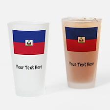 Haitian Flag Drinking Glass