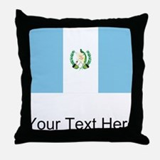 Guatemalan Flag Throw Pillow