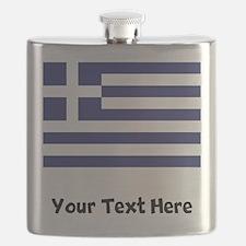 Greek Flag Flask