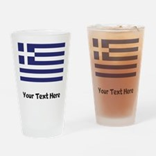 Greek Flag Drinking Glass