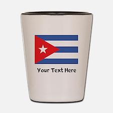 Cuban Flag Shot Glass