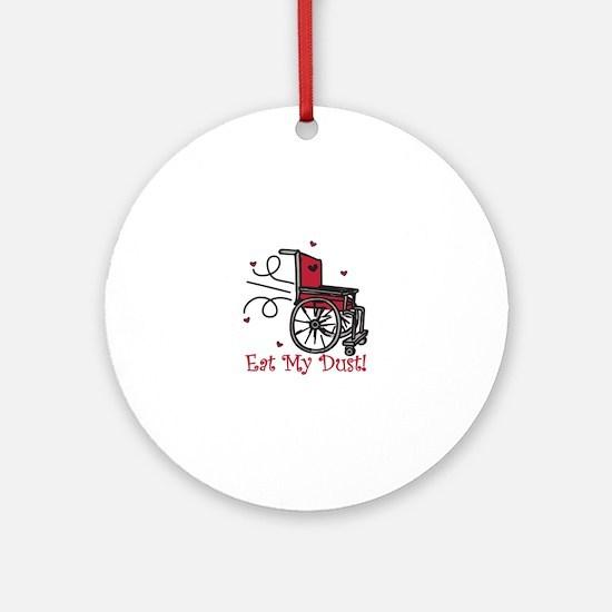 Fast Wheelchair Round Ornament