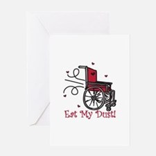 Fast Wheelchair Greeting Cards