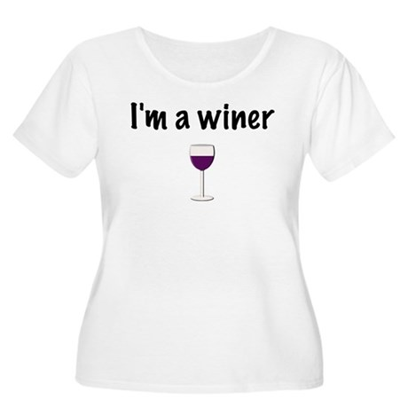 I'm a Winer Women's Plus Size Scoop Neck T-Shirt