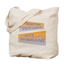 Get Your Vote Counted Tote Bag