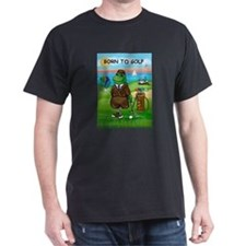 Golfing Frogs - Born to Golf T-Shirt