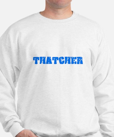 Thatcher Blue Bold Design Sweatshirt