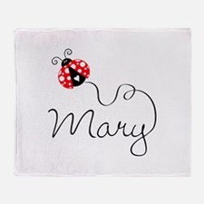 Ladybug Mary Throw Blanket