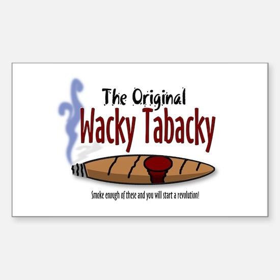 Wacky Tabacky Rectangle Decal