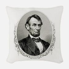 President Abraham Lincoln Woven Throw Pillow