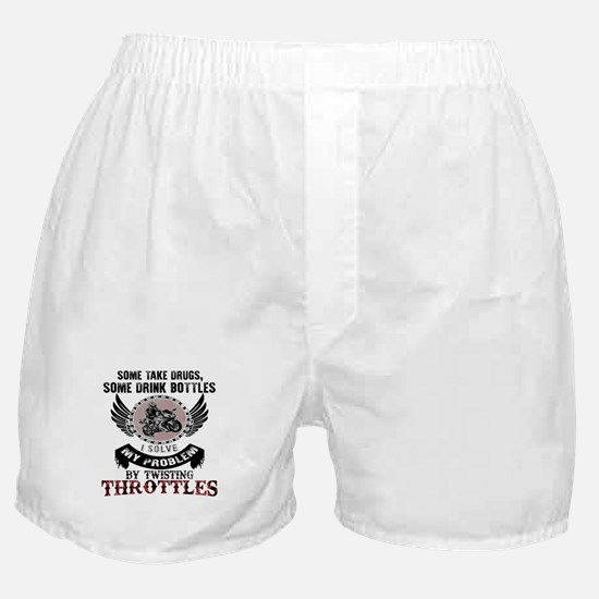 I Solve My Problems By Twisting Throt Boxer Shorts