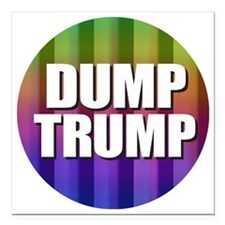"Dump Trump Square Car Magnet 3"" x 3"""